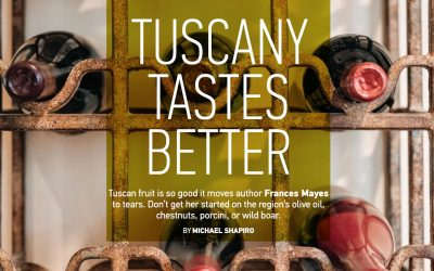 Tuscany tastes better, a food tour with Frances Mayes, Inspirato, Summer 2017