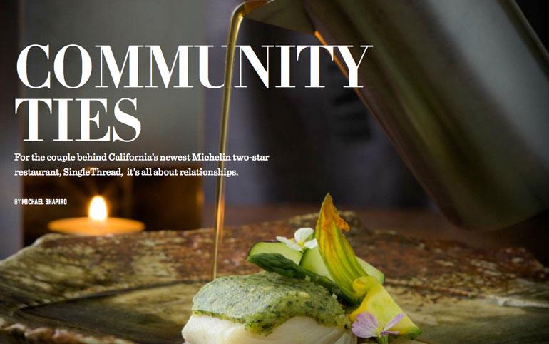 SingleThread restaurant shines in Healdsburg, Spring 2018